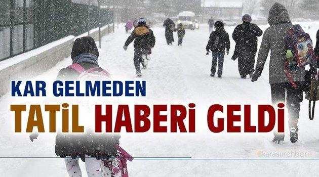 1 İlde Okullara Kar Tatili!