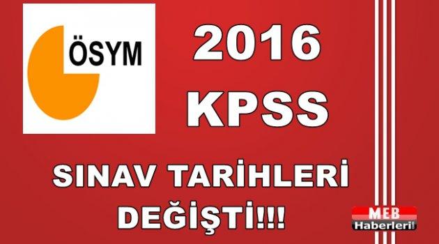 2016 KPSS Sınav Tarihleri Değişti!