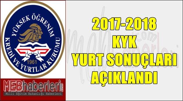 2017-2018 KYK yurt sonuçları açıklandı