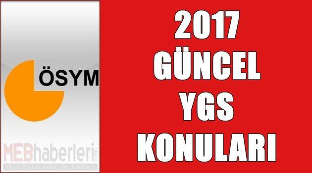 2017 Güncel YGS Konuları