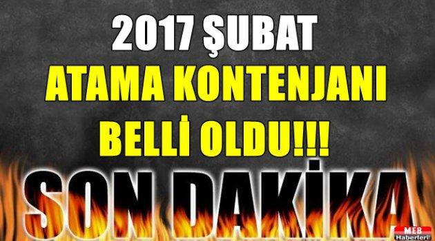 2017 Şubat Atamasında Kaç Öğretmen Alınacağı Belli Oldu!