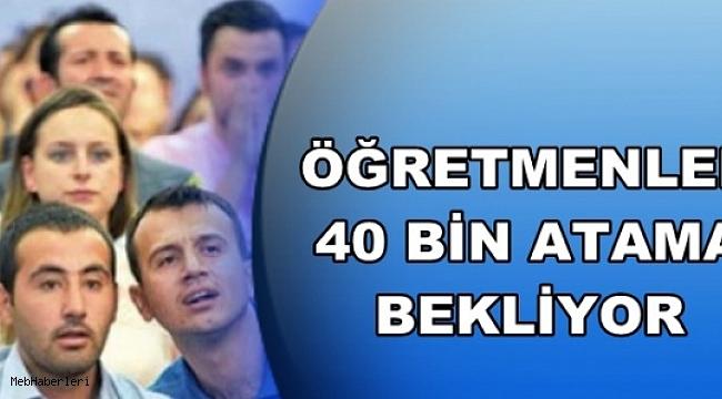 Öğretmen Adayları 40 Bin Atama Bekliyor
