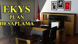 EKYS Puan Hesaplama - EKYS Puanı nasıl hesaplanır?