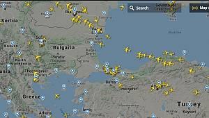 Gökyüzündeki Uçakları Canlı Görüntüleyin