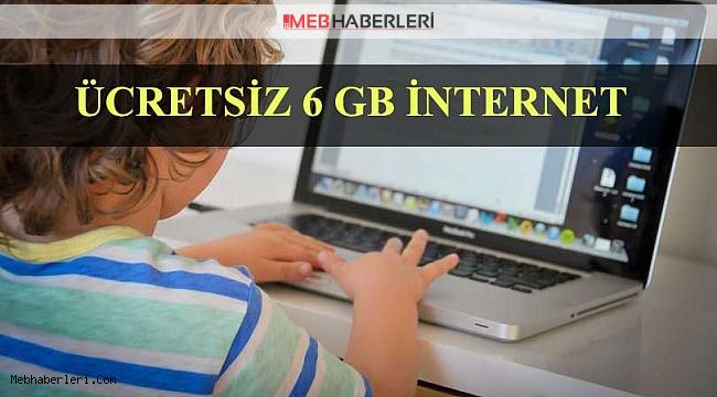 Tüm öğrenci, veli ve öğretmenlere ücretsiz internet