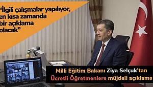 Ziya Selçuk'tan ücretli öğretmen açıklaması: