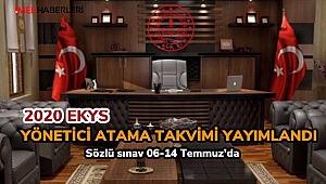 2020 (EKYS) Yönetici Atama Takvimi Açıklandı
