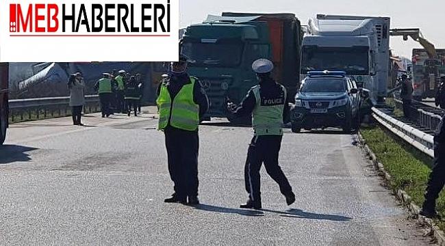 Bulgaristan'ın TIR'lara konvoy zorunluluğu zincirleme kazaya neden oldu