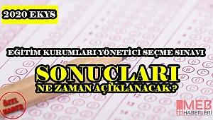 Eğitim Kurumları Yönetici Sınavı Sonuçları