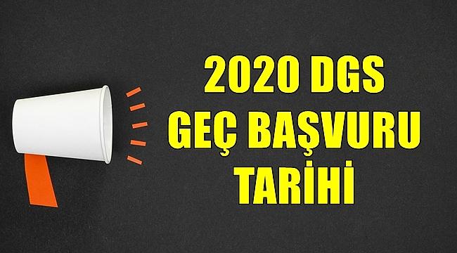 2020 DGS Geç Başvuru Ekranı