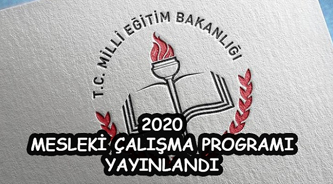 2020 MESLEKİ ÇALIŞMA PROGRAMI YAYINLANDI.