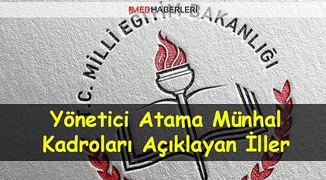 Yönetici Atama Münhal Kadrolar