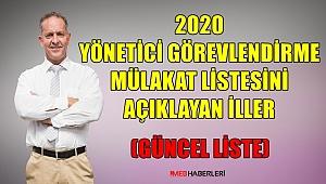 2020 Yönetici Görevlendirme Mülakat Listesini Açıklayan İller