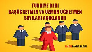 Türkiye'deki Uzman Öğretmen ve Başöğretmen Sayıları Açıklandı!