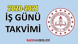2020-2021 MEB İş Günü Takvimi