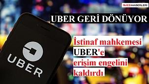 İstinaf mahkemesi Uber'e erişim engelini kaldırdI