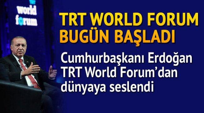 """""""TRT World Forum 2020"""" bugün başladı"""