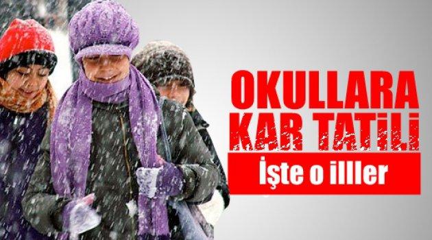 4 Aralık Kar Tatili Olan İller!!!