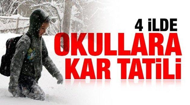 4 İlde Okullara Kar Tatili!