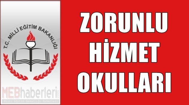 Ankara Zorunlu Hizmet Okulları 2018