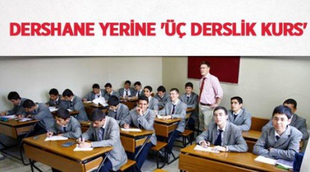 Dershane Yerine 3 Derslikli Kurs Geldi!