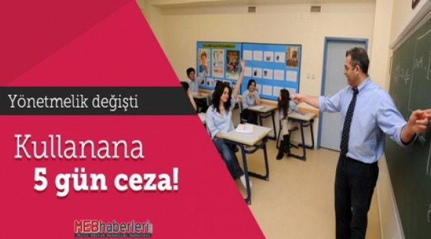 Derste Cep Telefonu Kullanan Öğrenciye 5 Gün Uzaklaştırma!!!