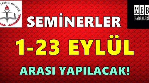 Eskişehir MEM: Seminerler 1-23 Eylül Arası!