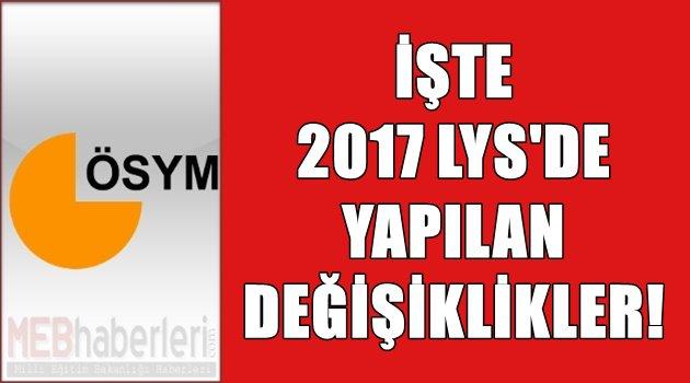 İşte 2017 ÖSYS'de Yapılan Değişiklikler!!!
