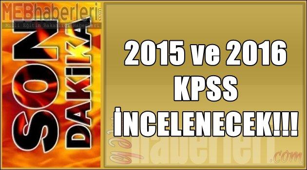 2015-2016 KPSS de İncelecek!