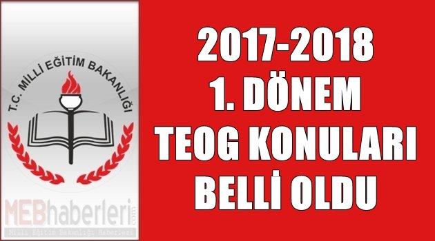 2017-2018 TEOG 1. Dönem Konuları Belli Oldu