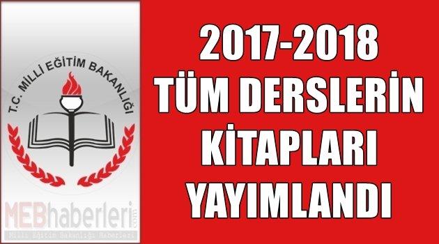 2017-2018 Tüm Derslerin Kitapları Yayımlandı