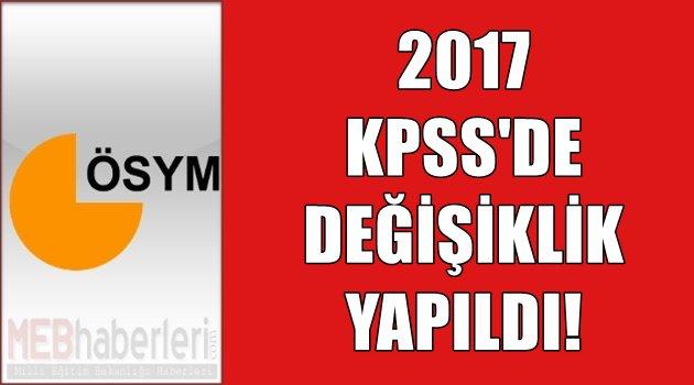 2017 KPSS'de Değişiklik Yapıldı!
