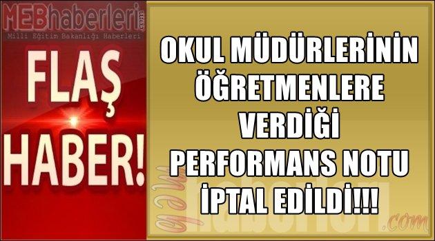 Okul Müdürünün Öğretmene Verdiği Performans Notu İPTAL!