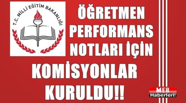 Performans Notlarına İtiraz İçin MEM'lerde Komisyonlar Kuruldu