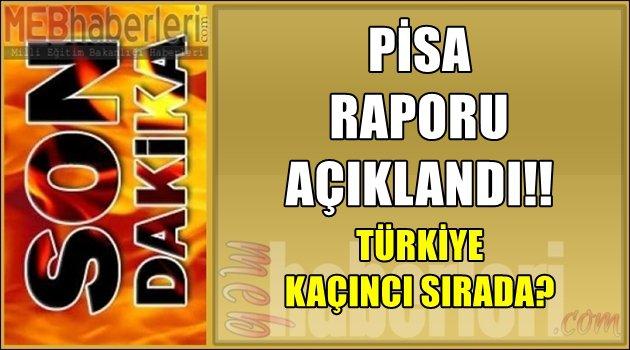 Pısa 2015 Raporu Açıklandı, Türkiye Kaçıncı Sırada?
