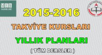 2015-2016 Takviye Kursları Tüm Yıllık Planları