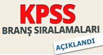 2016 KPSS Branş Sıralamaları Açıklandı!