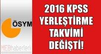 2016 KPSS Yerleştirme Takvimi Değişti!
