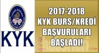 2017-2018 Kyk Burs/kredi Başvuruları Başladı