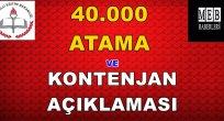 40.000 Atama ve Kontenjan Açıklaması!!
