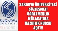 Sakarya Üniversitesi Sözleşmeli Öğretmenliğe Hazırlık Kursu Açtı!