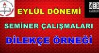 Seminer Çalışmaları Dilekçe Örneği ( 2015-2016 Eylül Dönemi)