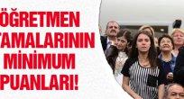2015 Eylül Öğretmen Atama Minimum Puanlar