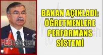 Bakan Açıkladı: Öğretmenlere Performans Sistemi