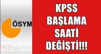 KPSS Sınavının Giriş Saati Değişti!