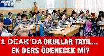 Yılbaşı Tatilinde Öğretmenler Ek Ders Alacak mı?
