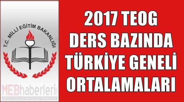 TEOG Türkiye Ortalamaları Belli Oldu!