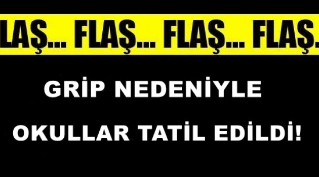 Yarın Grip Salgını Nedeniyle Okullar Tatil!
